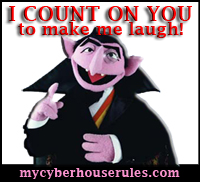 AWarded Count on you to make me laugh award from Miss Nikki of My Cyber House Rules