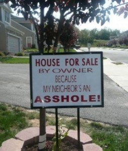 funny house for sale sign