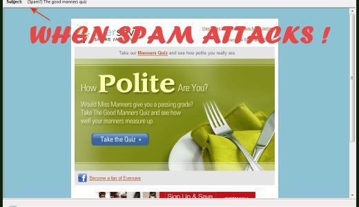 I got this spam email that asked me about my manners.