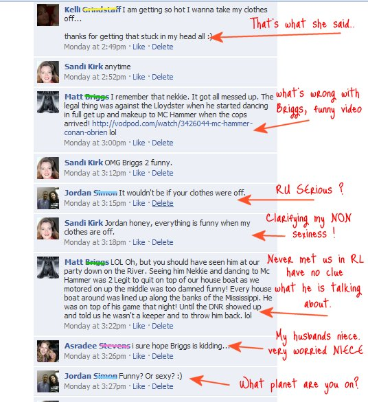 facebook comments 24 funny comments to a 5 word status