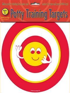 Potty targets, tinkle targets, potty training, better aim, bathroom help