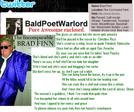 Brad Finn the BaldWorldPoet writes a poem for my Birthday