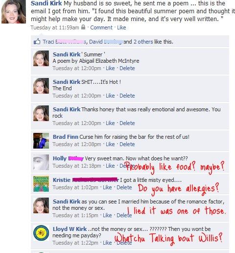 Crazy Facebook Wall Posts