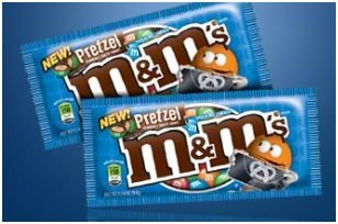pretzel M and M's candies
