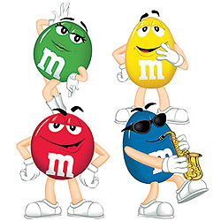 cute m & M  charecters.