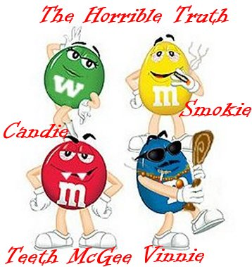 m and m candy characters are thugs in the mob