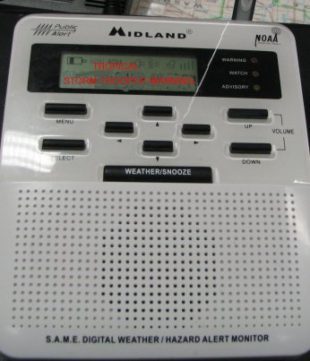 My storm weather radio is on high alert with warnings