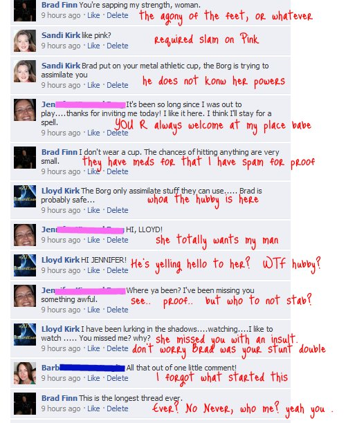 longest facebook thread ever funny