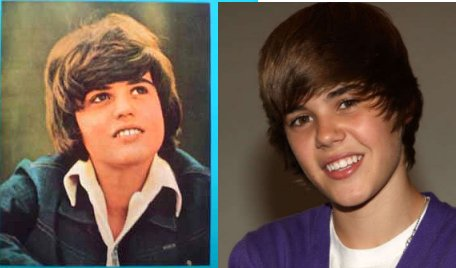 justin bieber is probably donny osmonds love child. allegedly