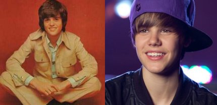 donny osmond and justin bieber, that beaver kid