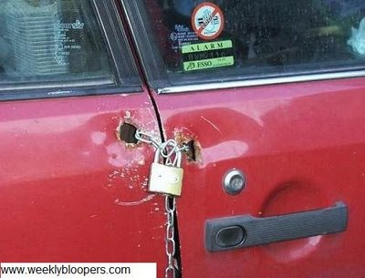 bad car repairs, rednecks, lock the car door