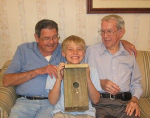 alex built a bird house with his pawpaw and 99 year old mentor Mr Ralph