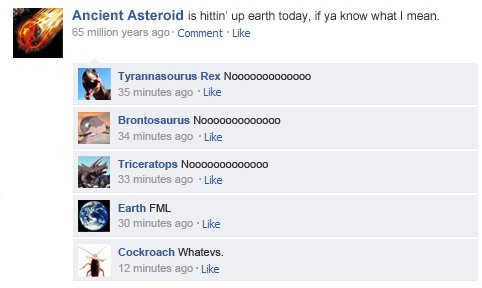 if historical events had facebook