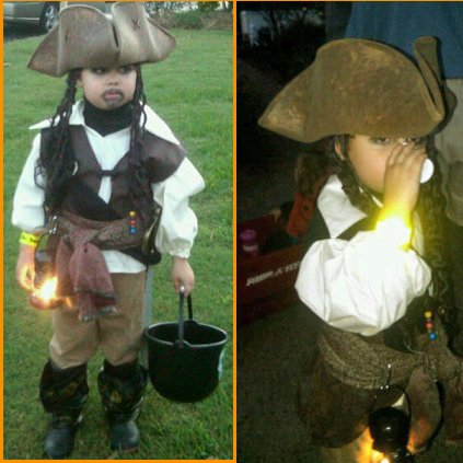 Liam as Captain Jack Sparrow,  move over Johnny Depp here comes Liam