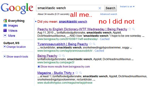 smactastic wench,  google, famous blogger, being peachy, the peachy 1,  influential