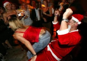 company christmas party, happy santa, non advice from thepeachy1