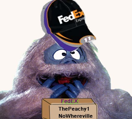 fed ex yeti, winter storm trooper warning, beingpeachy, the peachy1