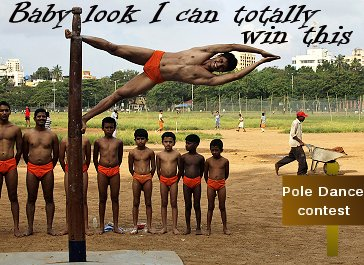 middle east male pole dance contest in the olympics