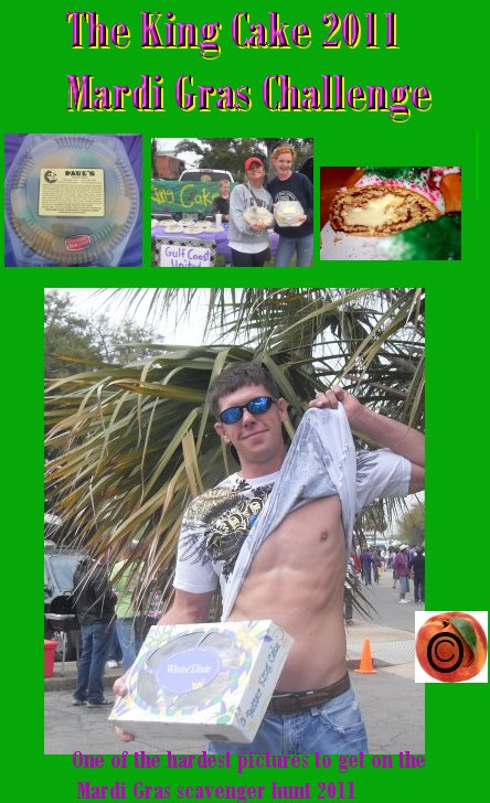 mardi gras photo scavenger hunt king cake flashing men winners