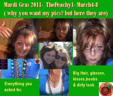 The Peachy 1 for Mardi Gras  at Being Peachy
