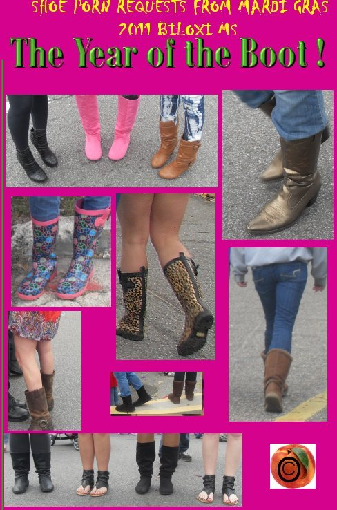 being peachy  shoe porn at mardi gras, the boot porn winners