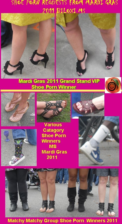 mardi gras, shoe porn, awesome heels, cool socks, winners 2011