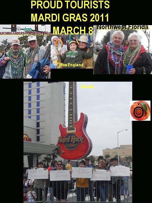 mardi gras 2011, tourists