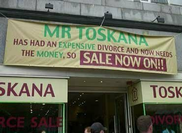 divorce sale, Mr Toskana needs  money