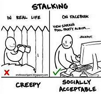 the difference between stalking and having friends on the internet