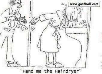 hairdryer is a gun