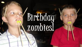 birthday zombie alien vampires