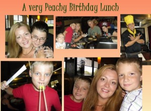 A very peachy birthday lunch !