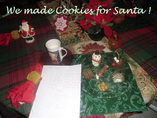 we made cookies for santa, snowmen, reindeer, pirouleauxs and all